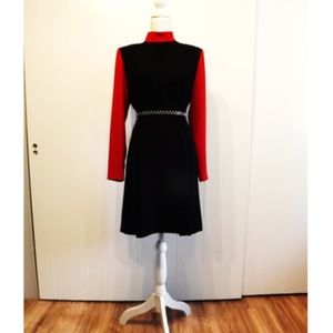 Vintage Mock Neck Mod Dress